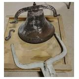 Cast iron Dinner Bell made in Ohio