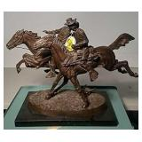 "Remington ""The Wounded Bunkie"" Bronze"