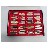 Collection of advertising pocket knives