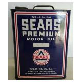 Sears 2 gal Premium Motor Oil Can