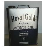 Royal Gold 2 gal motor oil can