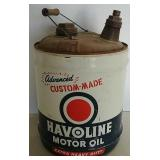 Havoline 5 gal oil can