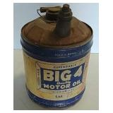 5 Gallon Big 4 Motor Oil can