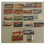 20 Vehicle advertising postcards