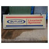 Butler livestock systems light up sign