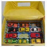 Toy cars in collector