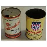2 Vintage oil cans