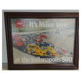 1980 Indy 500 cardboard framed poster