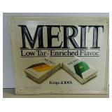 SST embossed Merit Cigarettes sign