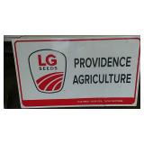 SST embossed LG Seeds sign