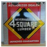 DSP Weyerhaeuser 4 Qquare Lumber dealer sign