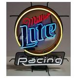 Miller Lite Racing neon light