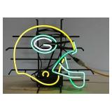 Green Bay Packer Helmet neon light