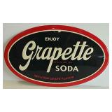 SST embossed Grapette Soda sign