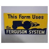 SST embossed Ferguson system sign