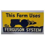 SST Embossed Ferguson System sign