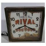 Rival Dog Food clock