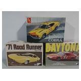 3 Model car kits - parts