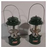 2 Green Coleman lanterns