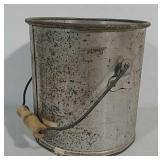 Galvanized milk bucket