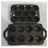2 Cast iron muffin pans