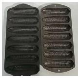 2 Cast iron corn stick pans
