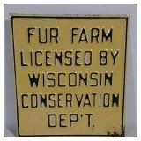 SST Embossed Fur Farm Sign