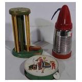 Toys and seltzer dispenser