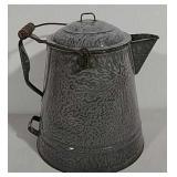 Cowboy coffee pot porcelain