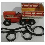 Tin windup toy truck