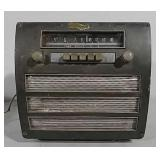 Old car radio with speaker