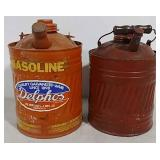 2 Delphos gasoline cans