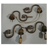 4 Wall lamp or sconce pieces