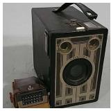 Brownie Junior box camera with flash