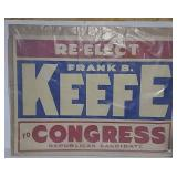 Frank B Keefe for Congress paper advertisement