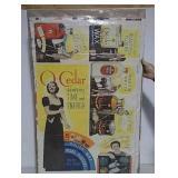O-Cedar paper lithograph advertising