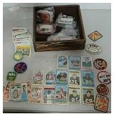 Sports cards badges and more