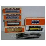 Lionel engine and four cars and track