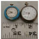2 small pocket watches