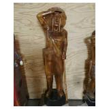 Large Wooden Indian chief