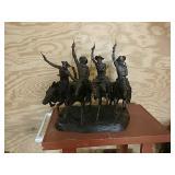 Bronze Fredrick Remmington statue