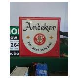 Andeker Pabst beer plastic insert sign