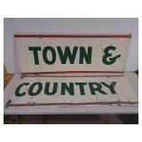 SST town and country 2 piece sign