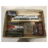 HO Diesel engines, tug, cars, and accessories