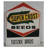 SST embossed Super Crost seeds sign