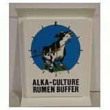 Alka-culture rumen buffer plastic clock