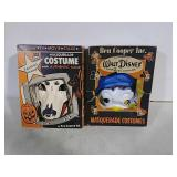 2 vintage halloween masks and costumes
