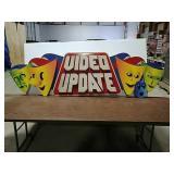 Plastic foam Video Update sign