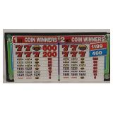 Glass Payout Display For Slot Machine