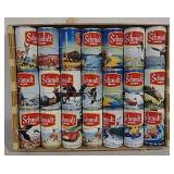 Schmidt Beer Can Collection In Display